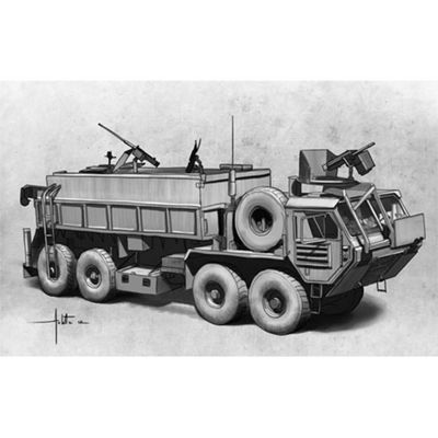 Italeri Hemtt Gun Truck 6510 1:35 Military Vehicle Model Kit
