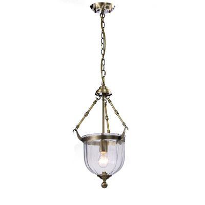 Aubrey Pendant 1 Light Antique Brass/Glass