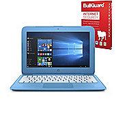 """Certified Refurbished HP Stream 11-y050sa 11.6"""" Laptop Intel Celeron N3060 2GB 32GB with Internet Security - X9W60EA#ABU"""