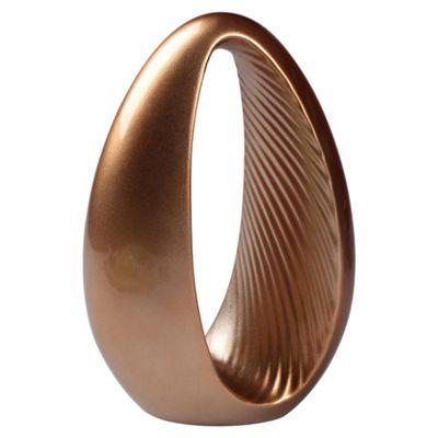 F&F Home ceramic oval polo objet gold