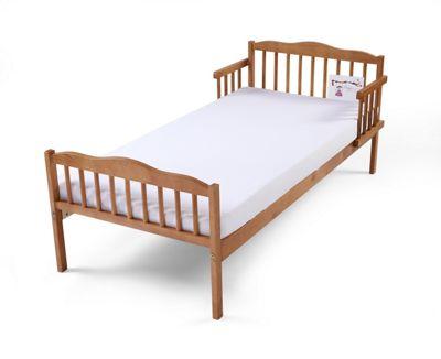 Poppys Playground Antique Pine Junior Toddler Bed Including Safety Foam Mattress