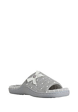 F&F Moulded Footbed Slippers - Grey