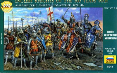 Zvezda - English Knights Of The 100 Years War - 1:72 8044