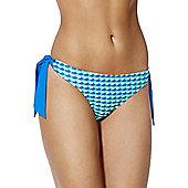 Curvy Kate Atlantis Scallop Print Side Tie Bikini Briefs - Blue