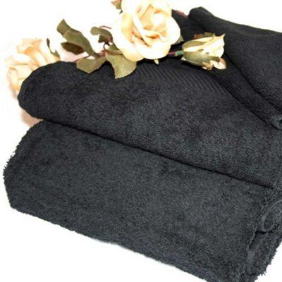 Homescapes Turkish Cotton Black Bath Towels Set