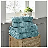 Fox & Ivy Egyptian Cotton Bathroom Textiles - Kingfisher blue