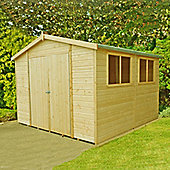 Finewood Workspace Shed & Workshop 10x10 with Double Doors