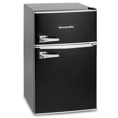 Montpellier MAB2030K Retro Style Under Counter Fridge Freezer - Black
