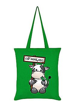 Eat More Veg Tote Bag 38 x 42cm, Green