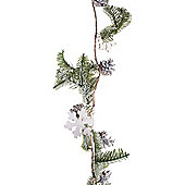Pine Cone, Snowflake & Artificial Green Fir Woodland Christmas 125cm Garland