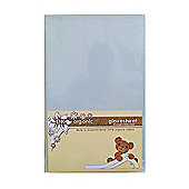 DK Glovesheet Organic Fitted Sheet for Chicco Next 2 Me- Blue