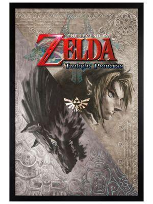 Legend of Zelda Black Wooden Framed Zelda Twilight Princess Poster 61x91.5cm
