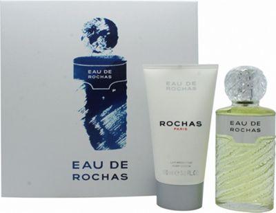 Rochas Eau de Rochas Gift Set 100ml EDT Spray + 150ml Body Lotion For Women