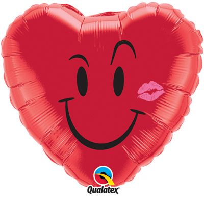 Naughty Smile & Kiss Balloon - 18 inch Foil