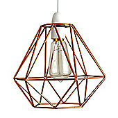 Diablo Copper Wire Frame Non Electric Pendant Shade