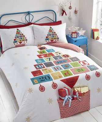 Advent, Christmas Themed Double Duvet