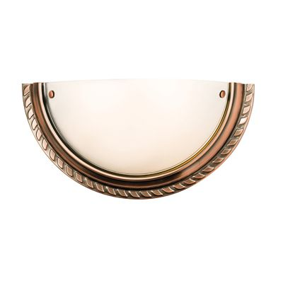 Athens 1 Light 40W Wall Light Antique Copper Plate