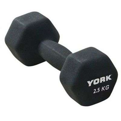 York Neoprene Hex Dumbbell 2.5kg x 1