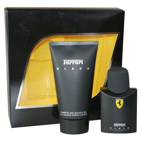 Ferrari Black 75ml EDT Spray & 150ml Shampoo and Shower Gel Gift Set
