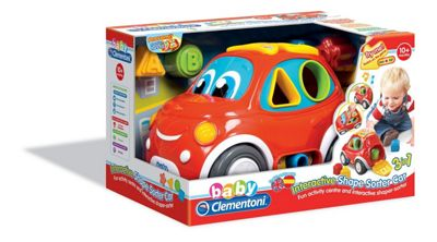 Baby Clementoni Interactive Shape Sorter Car