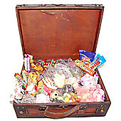 Funky Hampers - Antique Wooden Sweet Suitcase