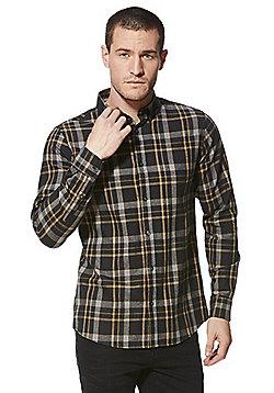 F&F Marl Checked Shirt - Grey & Multi