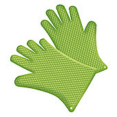Tepro 8307 Pair Heat Resistant Non-Slip Silicone Grilling Gloves for BBQ and Kitchen