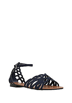 F&F Studded Two Part Sandals - Navy