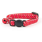 Ancol Acticat Softweave Elasticated Kitten Collar - Red / Pink