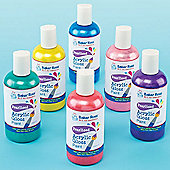 Pearlised Acrylic Paint (Set of 6 150ml bottles)