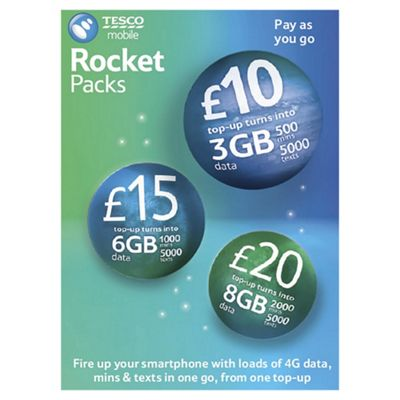 Tesco Mobile Rocket Packs SIM Card