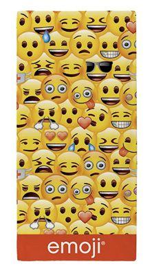 Emoji Multi 'Face' Printed Beach Towel
