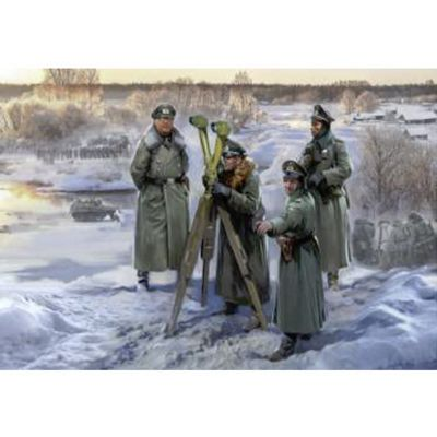 ZVEZDA German Headquarters WWII Winter 6232 1:72 Figures Model Kit