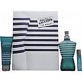 Jean Paul Gaultier Le Male Gift Set 125ml EDT + 75ml All-Over Shower Gel + 9ml Pocket Spray For Men