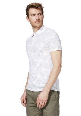 F&F Palm Print Polo Shirt Grey 2XL