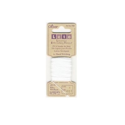 Clover White Luxurious Embroidery Threads