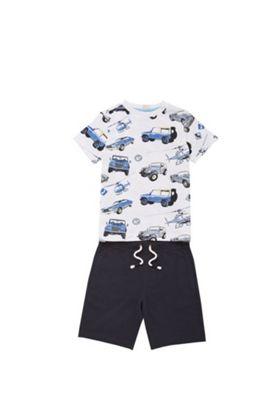 F&F Transport Print T-Shirt and Shorts Set Multi 12-18 months