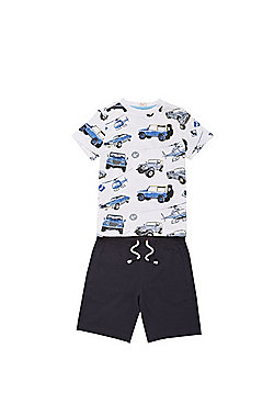 F&F Transport Print T-Shirt and Shorts Set - Multi