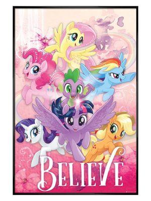 My Little Pony Gloss Black Framed Believe Poster 61 x 91.5cm