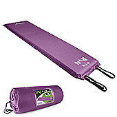 Trail 10cm Single Self-Inflating Camping Mat - Purple