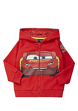Disney Pixar Cars Lightning McQueen Zip-Through Hoodie - Red