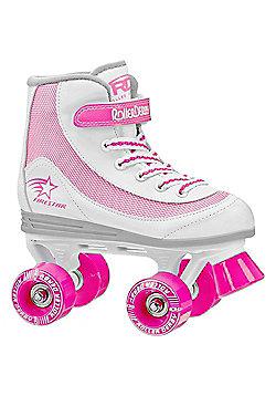 Roller Derby Trac Star Grey/Red Quad Roller Skates - White
