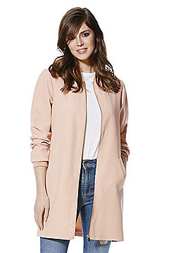 F&F Long Line Bomber Jacket - Blush