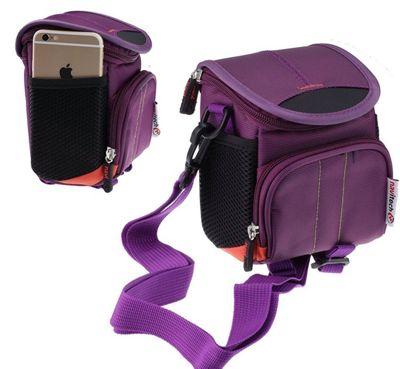 Navitech Purple Digital Camera Case Bag Cover For The Praktica Luxmedia Z250 Black Camera