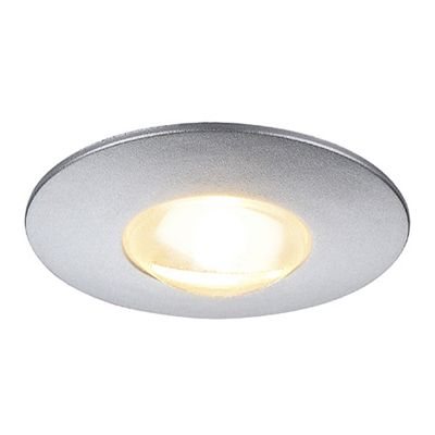 Dekled Recessed Round Spotlight Silvergrey Metallic 1W LED Warm White