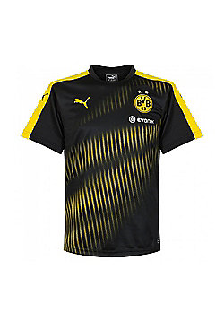 Puma Borussia Dortmund BVB 2017 Stadium Mens Football Training Jersey Shirt - Black