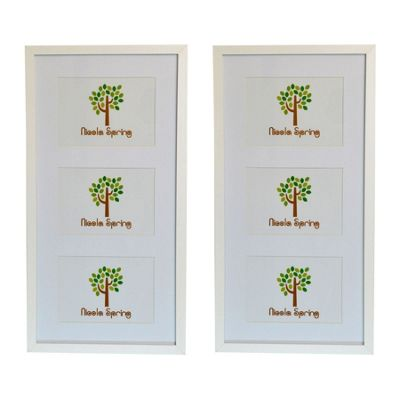 Nicola Spring Triple White Hanging Collage Photo Frame - Pack Of 2