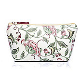 Small Cream Floral Print Make Up Bag