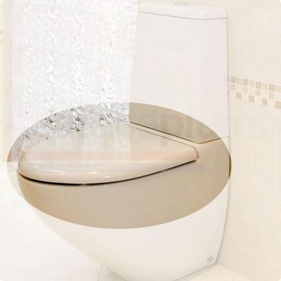 RAK Reserva Wrap Over Plastic Toilet Seat with Soft Close Hinge