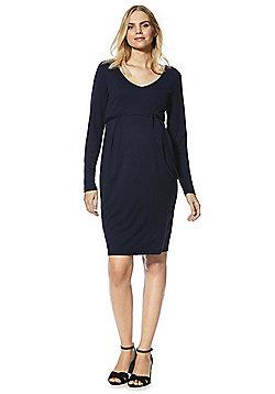 Mamalicious Jersey Maternity Dress - Navy